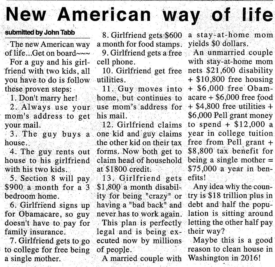 Articles on the American Dream