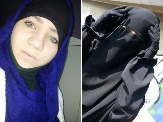 Sabina Selimovic, 15, (left) and Samra Kesinovic, 17, in pictures posted to social media profiles apparently from within Syria (Interpol)