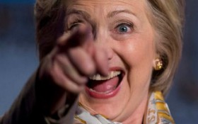 hillary pointing