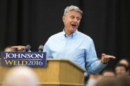 """FILE - In this Sept. 3, 2016 file photo, Libertarian presidential candidate Gary Johnson speaks during a campaign rally in Des Moines, Iowa. Johnson had another self-described """"Aleppo moment"""" on Wednesday, Sept. 28, 2016, after he couldn't come up with a name when asked by MSNBC host Chris Matthews who his favorite foreign leader is. (AP Photo/Scott Morgan, File)"""