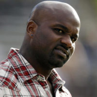 FILE - In this Nov. 7, 2012, file photo, former Colorado running back and Heisman Trophy winner Rashaan Salaam watches from the sidelines during the third quarter of an NCAA college football game between Colorado and Washinnton, in Boulder, Colo. Authorities say 1994 Heisman winner Rashaan Salaam has been found dead in a park in Boulder. The Boulder County coroner's office said Tuesday, Dec. 6, 2016, that it is still investigating the death of 42-year-old Salaam. (AP Photo/David Zalubowski, File)
