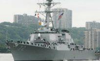 U.S. Navy fires warning flare at Iranian vessel