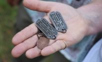 Dog tags, possible remains of lost WWII soldier found