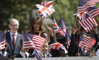 Melania Trump charms retired British veterans